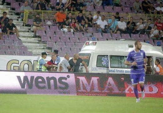 Szívstop, kis híján tragédia a temesvári futballmeccsen