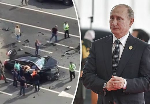 Frontális karambolban rommá tört Putyin autója – videó!