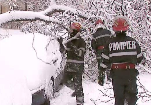 Hóvihar: 3 autót megrongált egy kidőlt fa Marosvásárhelyen – 2000 fogyasztó áram nélkül Maros megyében