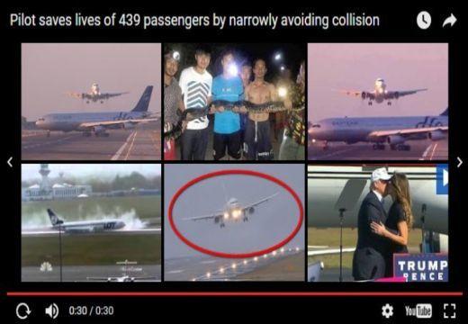 Így mentette meg 439 ember életét a pilóta – nézd meg a felvételt!