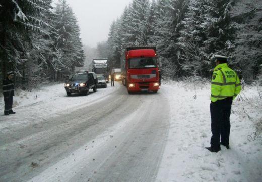 Téli útviszonyok Hargita megyében