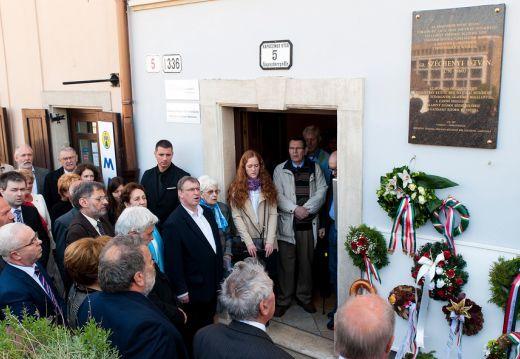 Széchenyi-emléktáblát avattak Pozsonyban