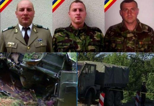 Adatok a katonai konvoj egyik teherautójának balesetében elhunyt három román katonáról