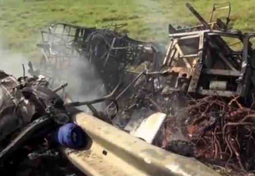 Frontális baleset, tűzzel: 21 halott, 30 sérült (videó)