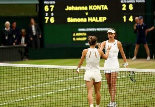 Itt a vége! Halep nem jutott be a női egyes elődöntőjébe Wimbledonban