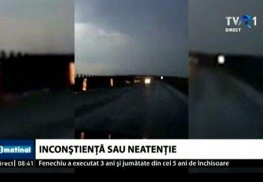 Rémület! Nagy sebességgel hajtott szembe a forgalommal az autópályán – videó