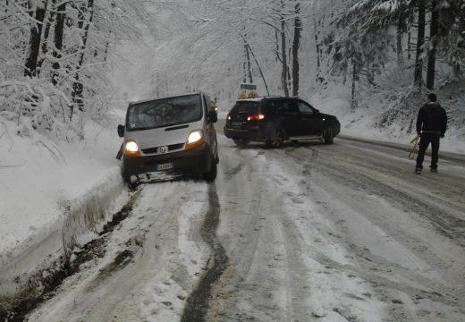 Rengeteg hó hullott Romániában