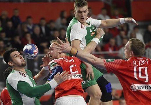 Férfi kézilabda Eb: 7 gólos magyar vereség az olimpiai bajnok dánoktól