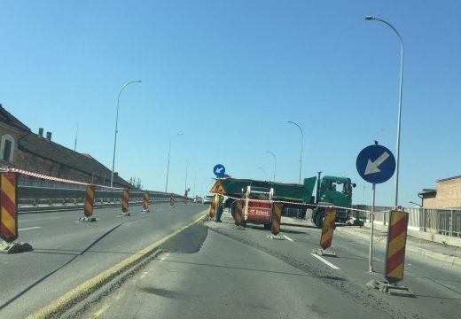 Elkezdődött a Maros-híd főjavítása az Egyesülés negyed felé vezető oldalon – FOTÓK