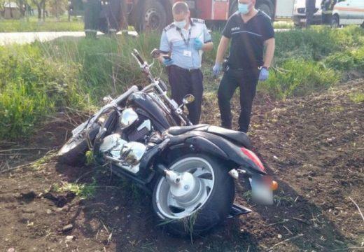 Motorosok balesete Bogátpuszta és Harasztos között