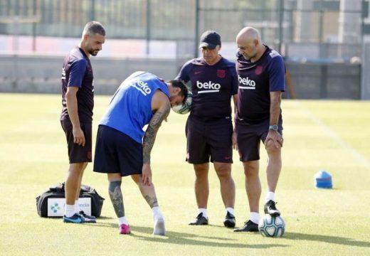 Messi edzett, sérülése nem súlyos