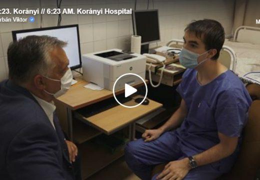 Orbán Viktor ébresztette ma reggel a Korányi kórház ügyeletes orvosát