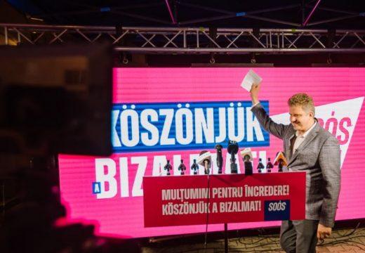 Soós Zoltán 17 ezerrel több szavazatot kapott, mint Claudiu Maior