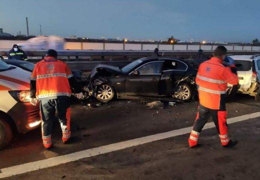 Tíz kocsi ütközött egymásnak az A1-es autópályán