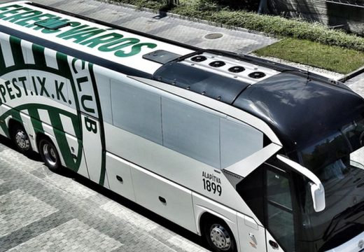 Balesetezett a Fradi csapatbusza
