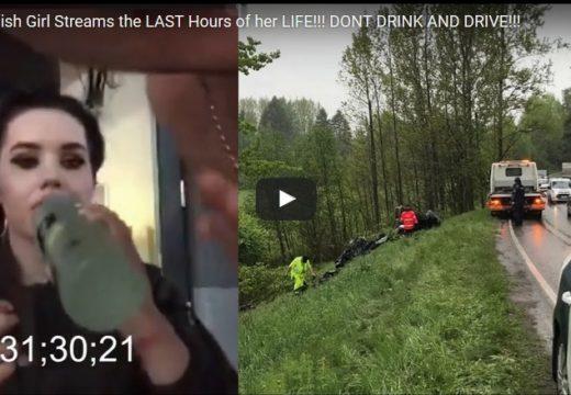 DRÁMA: Élőben közvetítette saját halálos balesetét a fiatal pár (videó)