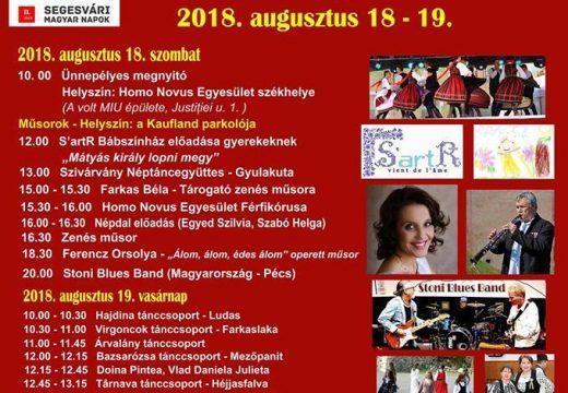 Magyar Napok Segesváron másodszor: íme, a teljes program