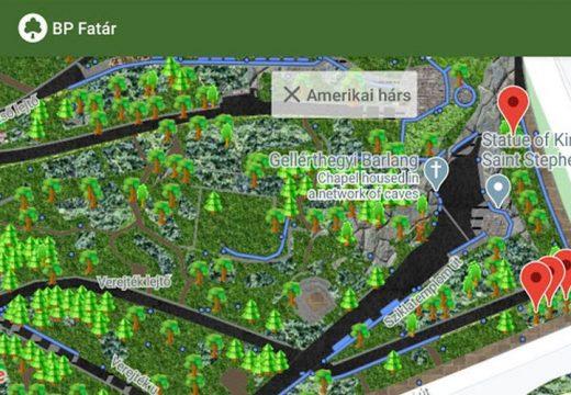 Ingyenesen letölthető Budapest nyilvános fa- és parkkataszter applikációja