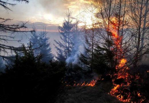 Mintegy 15 hektáron lángol az erdő Gyergyónál