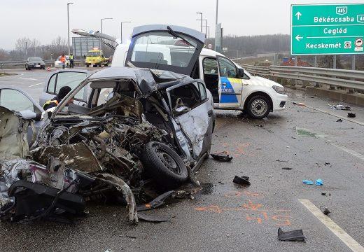 Halálos baleset történt a 445-ös főúton, Kecskemétnél