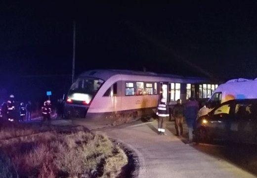 Vonattal ütközött Ocfalvánál